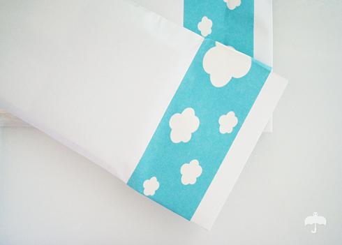 envelope com nuvens
