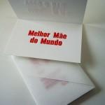 Cartão Letterpress Mãe