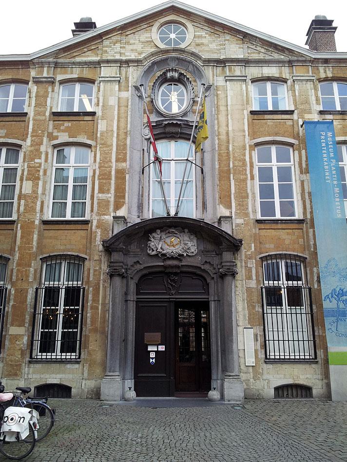 Fachada do edifício que abriga o Museu Plantin Moretus