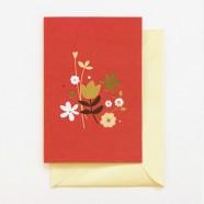 Cartões Florais: Bem-te-vi